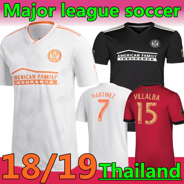 18/19 Atlanta uniu a versão dos fãs da camisa de futebol especial preta GARZA JONES Futebol da liga principal VILLALBA MCCANN AWAY uniforme de futebol