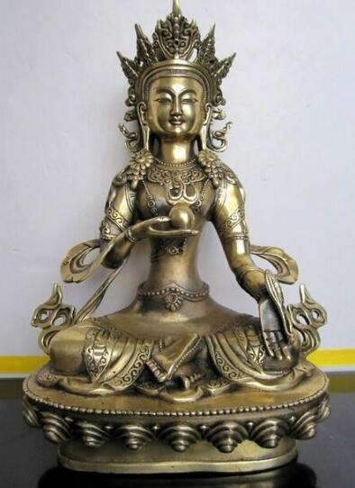 Tibet Buddhism Ksitigarbha Bronze Statue di buddha