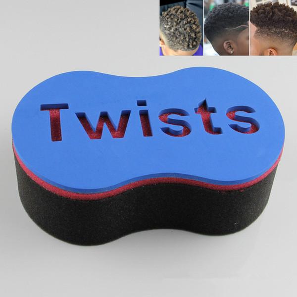 Magic Double Head Sponge Men Barber Hair Brush Black Dreads Locking Afro Twist Curl Coil Brush Hair Styling Tools Hair Care 120pcs