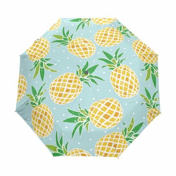 Творческий ананас печатных автоматический зонтик дизайн одежды женщин зонтики ветрозащитный непромокаемый анти-УФ Зонтик для детей