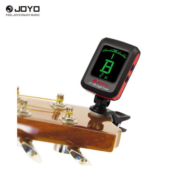Sintonizador de clip LCD digital JOYO JT-12B para guitarra acústica electrónica bajo violín ukelele