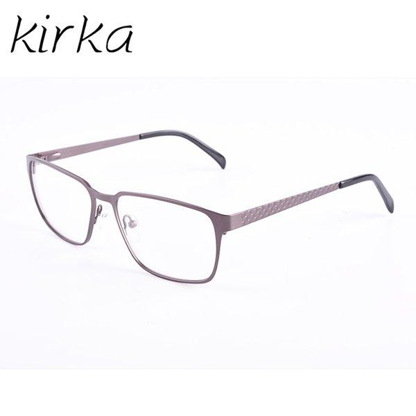 Kirka Mens Big Frame Glasses Eye Glass Frames For Men Spectacle Eyewear Frames Optical Eyeglasses Gun Glasses Frame