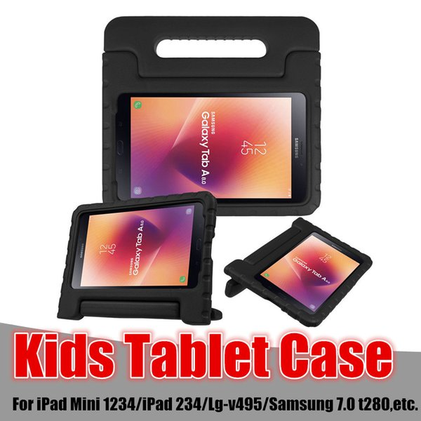 Shockproof Case Stand Handle Cover For Samsung 7.0 t280 Amazon hd7 Thick Foam EVA Protective Tablet Case for Children Kids iPad