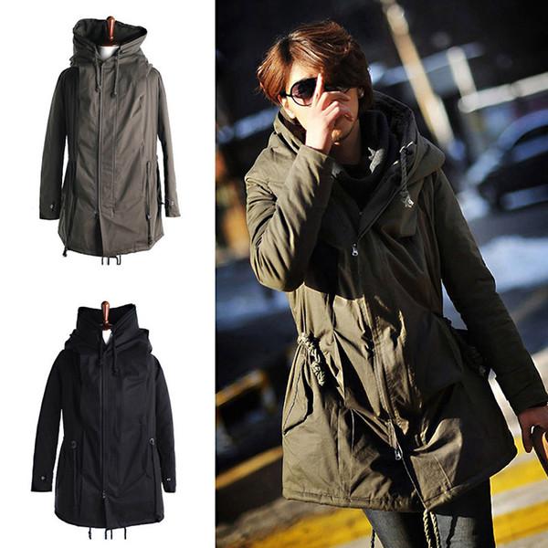 2018 Winter Men Parkas Fashion Warm Thick Cotton Hooded Men Jacket Coat Plus Size Coat Casual Parkas ZWT4452