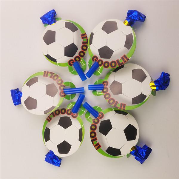 6 teile / los Fußball Fußball Thema Party Blowouts Whistles Kinder Geburtstagsparty Begünstigt Dekoration Liefert Krachmacher World Cup Decor