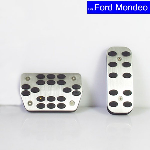 Car Aluminium Alloy Petrol Clutch Fuel Brake Braking Pad Foot Pedals Rest Plate for Ford Mondeo 2015 2016 2017 Auto Pedals