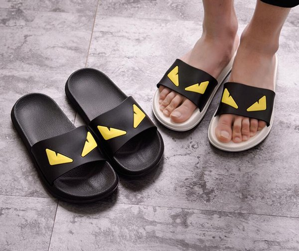 Brand Design Women Men Novelty Slippers Fashion Beach Flat Shoes Couples Outdoor Anti-skid Sandals Summer Flip flops 9 Colors Plus size