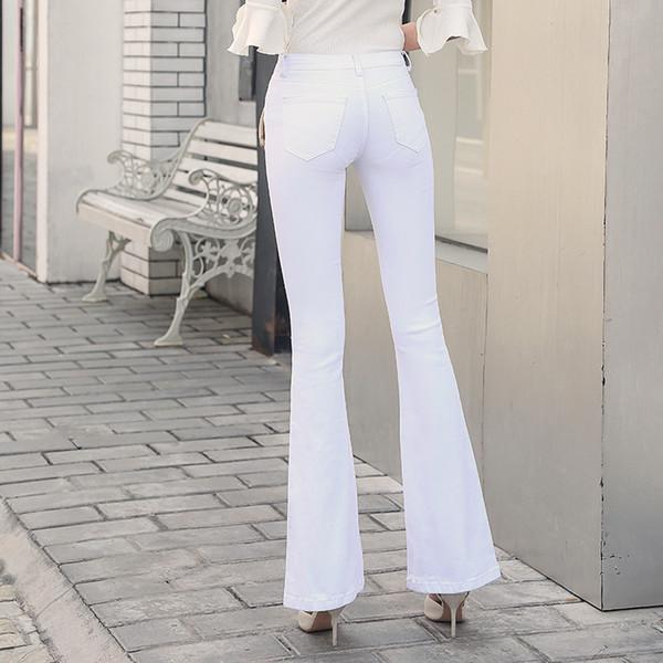 miglior grossista nuovo concetto ufficiale Acquista 2018 Nuovi Pantaloni Jeans Flare Pantaloni A Campana ...