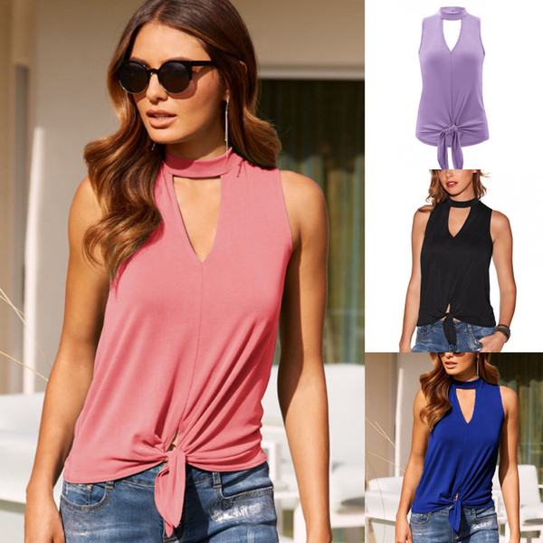 La camiseta de las mujeres del verano nuevos productos de las mujeres collares redondos Shoulder Outcut Sexy nariz botón de la camiseta 2608