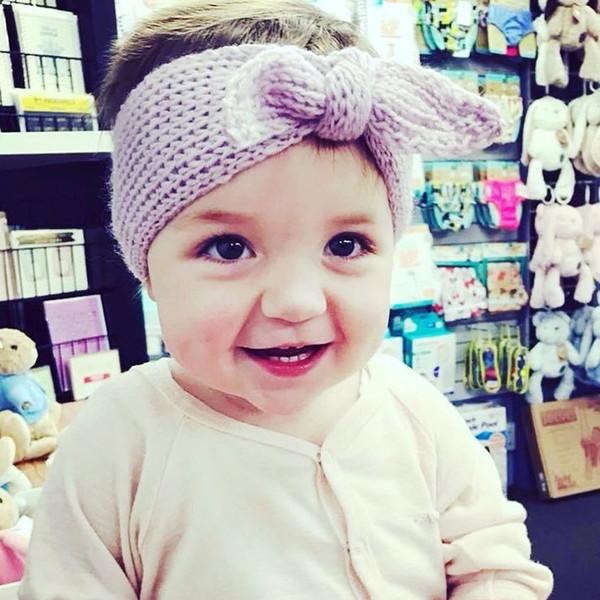 Compre Moda Bebé Niñas Ganchillo De Lana Cálida Diadema Hairband Con ...