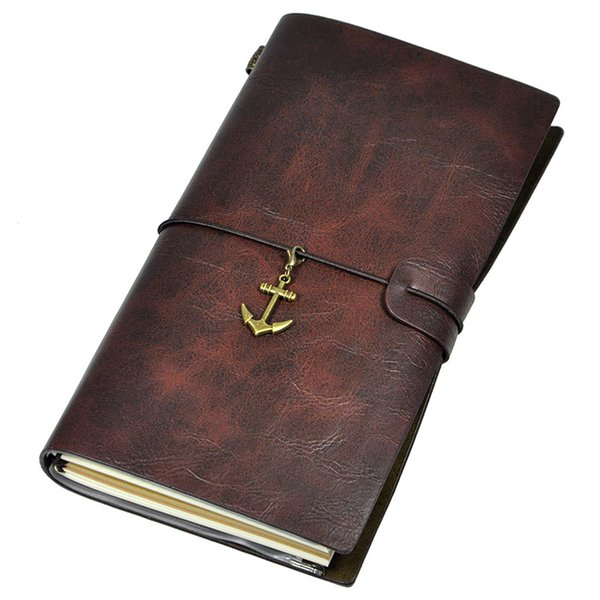 Wholesale Classics Embossed Retro Journal Travel Notepads Leather Cover Diary Work-book Notebook 8x4.7 Inches
