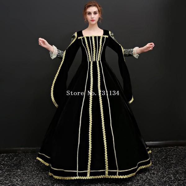 Halloween Dark Vampire gothique Costume Robe victorienne Cendrillon Théâtre Fantasy Robes