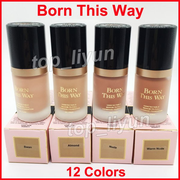 Makeup Born This Way coverage Foundation Liquid 12 colors Long Lasting Foundation Concealer Snow Porcelain Ivory 30 ml oil-free face cosmet
