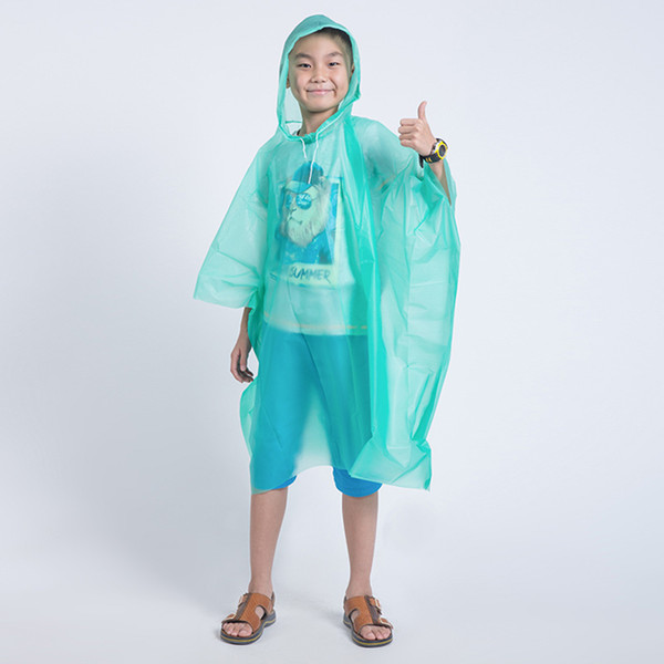 Disposable Children Poncho Raincoat Waterproof Transparent Kids capa de chuva infantil menino Rainwear Camping Pluie Rain Coat