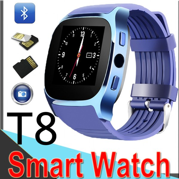 New Smart Watch T8 Bluetooth with Camera Facebook Whatsapp Support SIM TF Call Smart Band for Android IPhone9 xt6