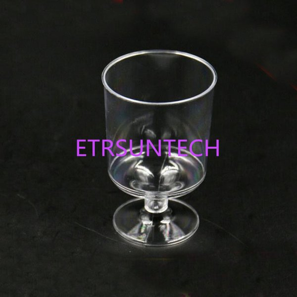 160ML Plastic Disposable Transparent Red Wine Glasses Fruit Juice Cups Goblets Bar Tools Outdoor Party Supplies QW8049