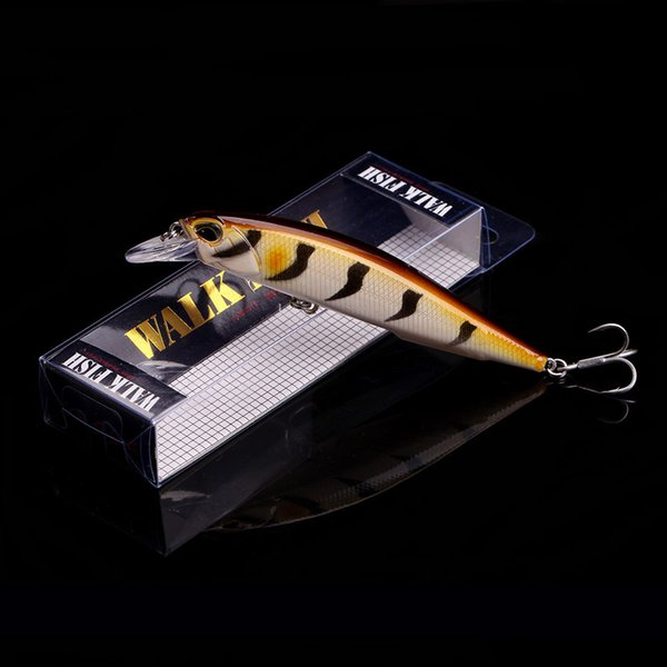 WALK FISH 1PCS 2018 New Modle Professional Fishing Lure 110mm 14g Floating Wobbler Minnow 0.8-1.2m Bass Pike Bait MUSTAD Hooks Y18100806