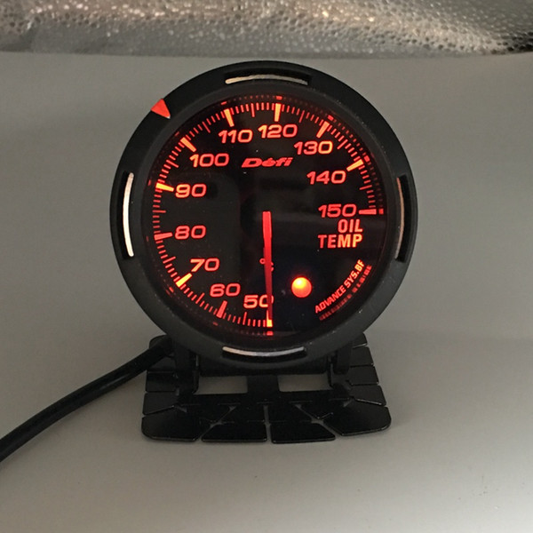 best selling Free Shipping 13 Backlight Color In 1 60mm Racing DEFI BF Link Auto Gauge Oil Temperature Meter Gauges Oil Temp Sensor