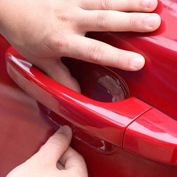 4 Adet Araba Styling Etiketler Araba Kapı Kolu Scratch Koruyucu Film Koruyucu Sticker Vinil Arabalar Cruze Opel Mazda Peugeot Için