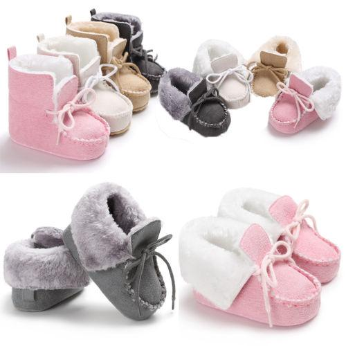 Infant Baby Boy Girl Soft Sole Crib Newborn Non-slip Boots Shoes Sneaker 0-18 Months
