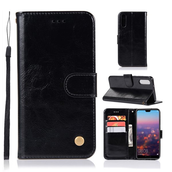 Leather Wallet Phone Case for Huawei P20 Pro P8 Lite P9 P10 Plus honor v10 Mate 10 iPhone XS Max XR 6s 7 8 5s With Stand up Credit Card Slot