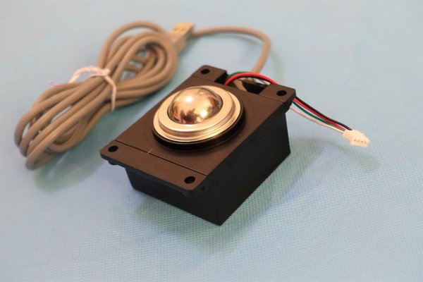 25mm laser optical trackball module with USB or PS2, high resolution reliable positioning data industrial input pointing device