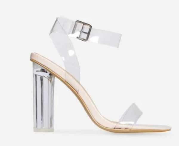 search for clearance price remains stable well known 2018 Women PVC High Heels Party Shoes Strappy Sandal In Clear Perspex  Wedding Shoes Clear Heel Sandals Open Toe PVC Sandals Shoe Sale Shoes Uk  From ...