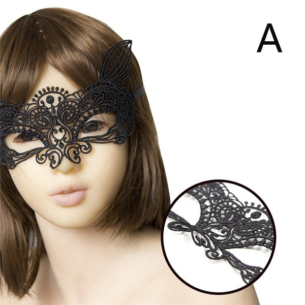 MaryXiong 1PCS Sexy Lace Blindfold for Women Party Dress for Masquerade Halloween Eye Patch Eye Mask Sex Game Toys Adult Product