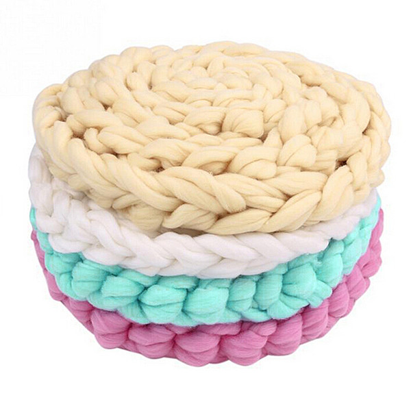 2017 Newborn Photography Props Basket Fashion Baby Wool Blanket Solid Photo Props Backdrop Background Newborn Photography Props