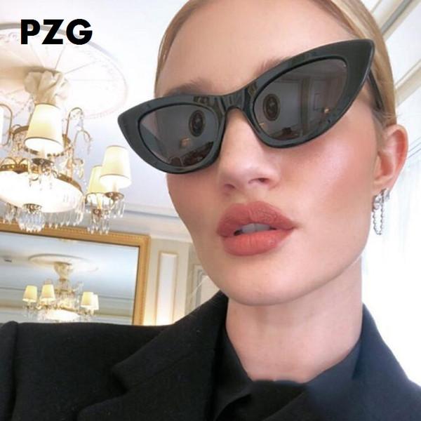PZG Design Brand Oversize Cat Eye Eyewear Retro Fashion Occhiali da sole Donna Designer Occhiali da sole Occhiali da sole donna 2018