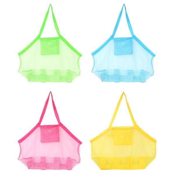 Children Sand Away Beach Carrying Mesh Bag Toys Swimming Pool Tote Storage Bags DU
