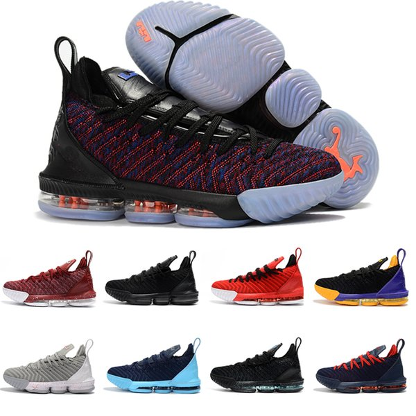 big sale bee2c ab71b 2018 New Arrival james 16 Black white gold red men Basketball Shoes lebrons  16s mens trainers