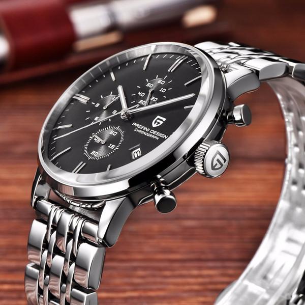 PAGANI DISEÑO relojes de los hombres Reloj Hombre impermeable del deporte del cuarzo del reloj de los hombres Relogio Masculino Dropshipping