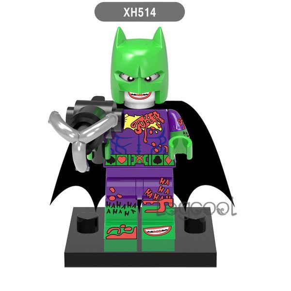 XH514 Joker Batman 10pcs DC Super Heroes Batman Batgirl Fairy Batman Bathrope Joker Rainbow Building Block Bricks Figures Toys for Children