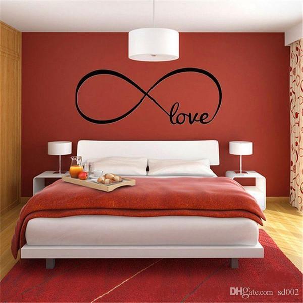 Infinity Symbol Love Wall Stickers Waterproof Self Adhered Sticker