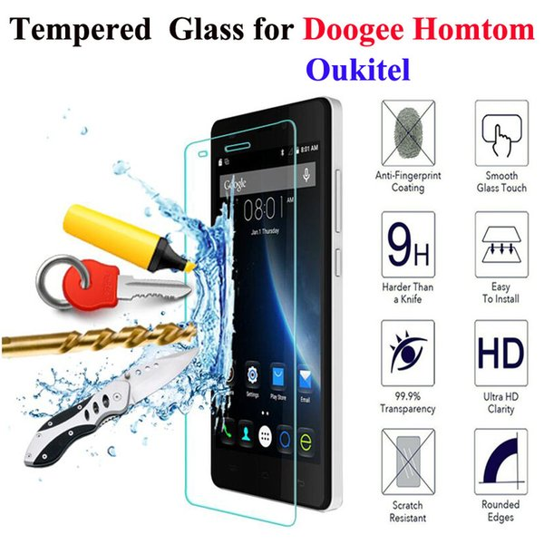 DREAMYSOW Tempered Glass For Doogee X5 Max Pro Y100 X6 Y6 for Homtom HT3 HT7 HT17 Pro K10000 Screen Protector Cover Film