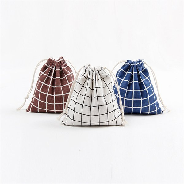 Cotton Drawstring Women Reusable Shopping Bag Printing Unisex Foldable Grocery Shopping Bags Hot Sale Case Pouch