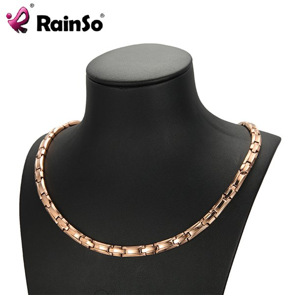 RainSo Magnetic Bio Energy Necklace Germanium Healing Power Necklaces Health Jewelry For Women Magnetic Therapy for Arthritis
