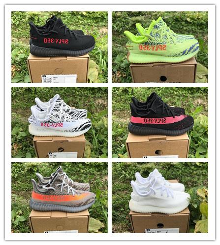 Infant 350 V2 sneakers Fluorescent Green Frozen Yellow Kids Running shoes Zebra Shoes Sply 350 Baby Kanye West Youth Toddler Trainers