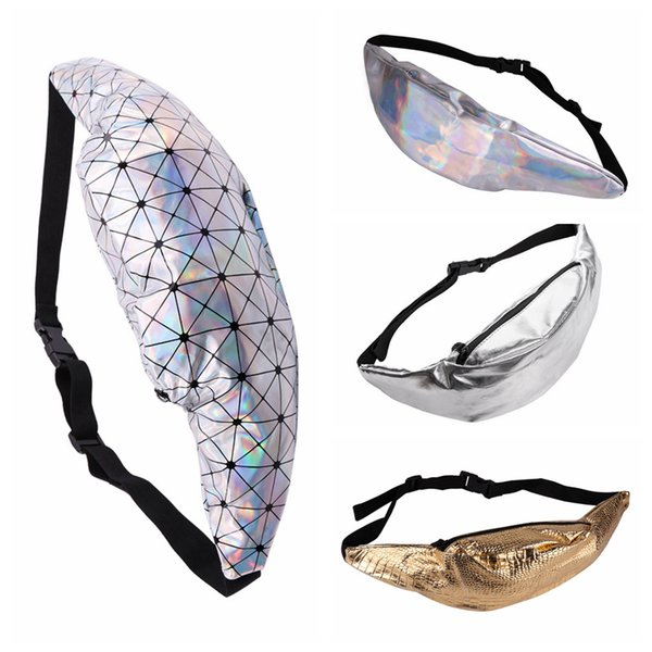 4 Stili Fashion Geometric Gold Mars Marsupio Sport Marsupio PU Metallico Silver Laser Chest Bag NNA330