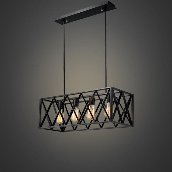 Industry Retro Ceiling Light Iron Ceiling Light For Living Room Bedroom E27 Light Bulb Living Room Lamp Creative European Style