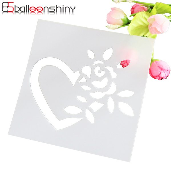 BalleenShiny Baking Kitchen Accessories Flower Fondant Cake Decorating Tools Cake Stencil Template spray Mold Gift