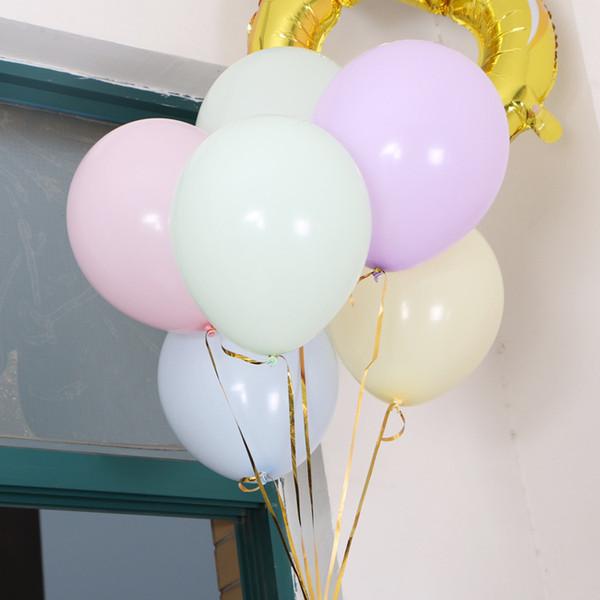 100 pçs / saco 10 polegada De Látex Partido Balão Macaron Cor Decoração De Casamento Balões Festa de Aniversário Da Criança Decoração Dia Dos Namorados Ballon Globos