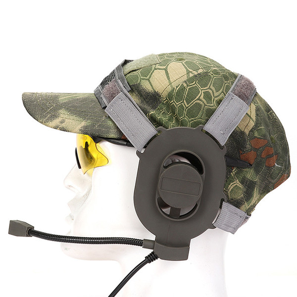 Tactical BOWMAN Elite II unilateral intercom headset High strength nylon Level 3 waterproof PTT connectors 4 pin plug