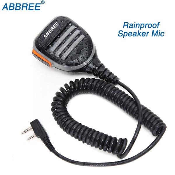 ABBREE 2 Pin PTT Rainproof Shoulder Speaker Microphone for  TYT Baofeng Two Way Radio UV-5R BF-888S UV-82 Walkie Talkie