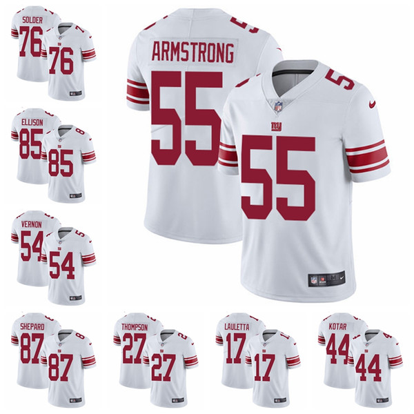 first rate a7bbd cc195 2019 New York Limited Road Football Jersey Giants White Vapor Untouchable  10 Eli Manning 13 Odell Beckham Jr.26 Saquon Barkley 96 From Luckandjersey,  ...