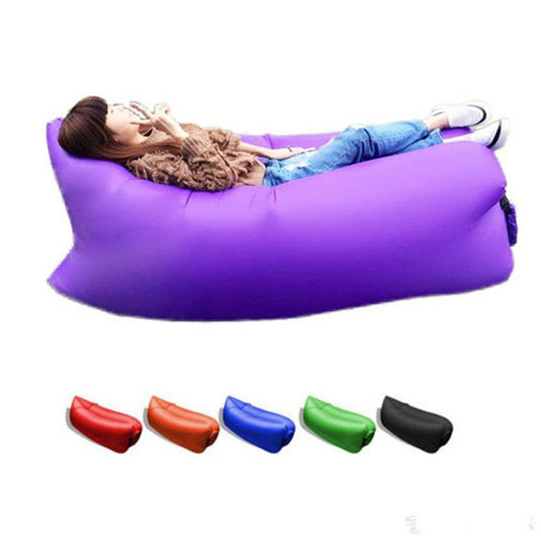 11 colors Lounge Sleep Bag Lazy Inflatable Beanbag Sofa Chair, Living Room Bean Bag Cushion, Outdoor Self Inflated Beanbag Furniture