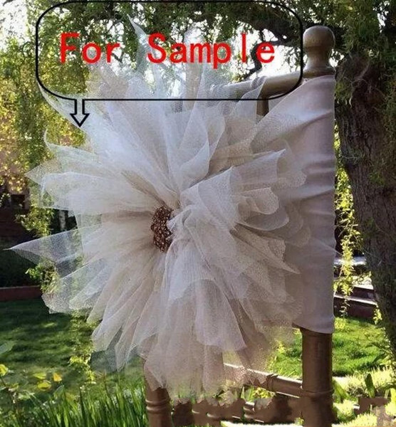 2018 For 3D Flower Chair Sashes Chair Covers Sample Link New Arrival Chair Sash Vintage Wedding Decorations