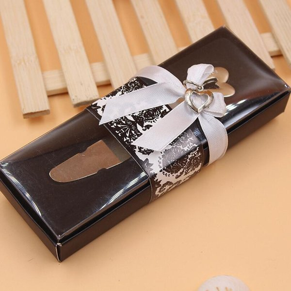 Wedding Favors Party Gift Spread The Love Heart Shaped Handle Spreaders Butter Knives Free Shipping LX3521
