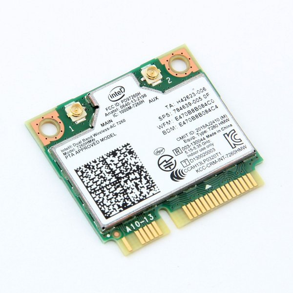 Mini PCI-E Wireless Card For Intel 7260 AC Dual Band 867Mbps 802.11ac Bluetooth 4.0 7260HMW Wifi Card For Laptop